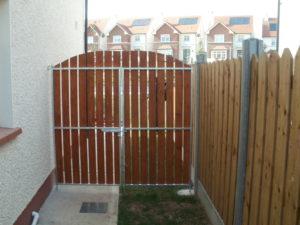 Teak Double Side Entrance Gates, Steel Frame with Teak Gates,