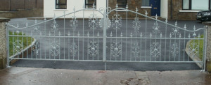 Galvanised Steel Entrance Gates Cork, Wrought Iron Driveway Gates Cork, Gates in cork