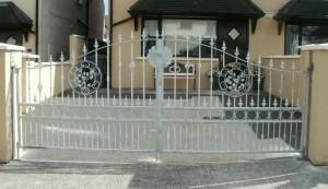 Galvanised Steel Driveway Gates, Wrought Iron Entrance Gates Cork,