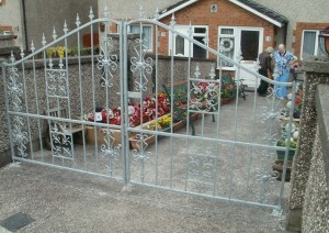 Galvanised Steel Entrance Gates Cork, Wrought iron driveway gates cork, wrought iron gates cork,