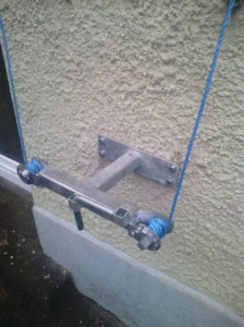 wall mounted clothesline, clotheslines, t bar clotheslines,