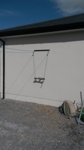 t bar clothesline, wall mounted t bar clothesline, washing lines cork, clothesline in cork,