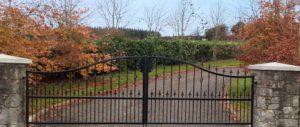 entrance gates cork, driveway gates cork, wrought iron entrance gates cork, gates supplier cork