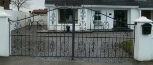 Painted & Galvanised Entrance Gates Cork, Wrought iron driveway gates cork, steel gates cork