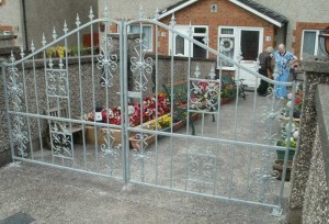 Steel Front Entrance Gates Cork, Wrought Iron Entrance Gates Cork, Gates in Cork,