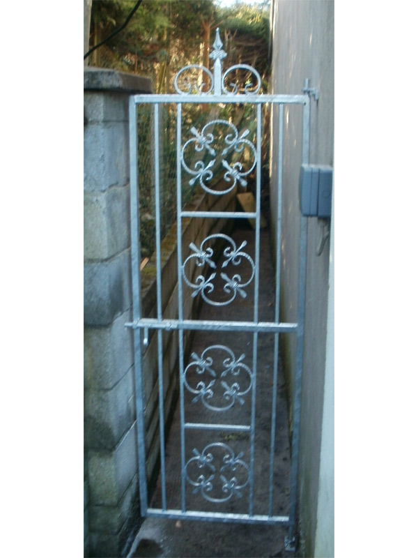 wrought iron side entrance gates cork,