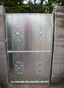 Wrought Iron Side Gate with Sheeting, Steel Side Entrance Gate with Sheeting, Steel Gates Cork,