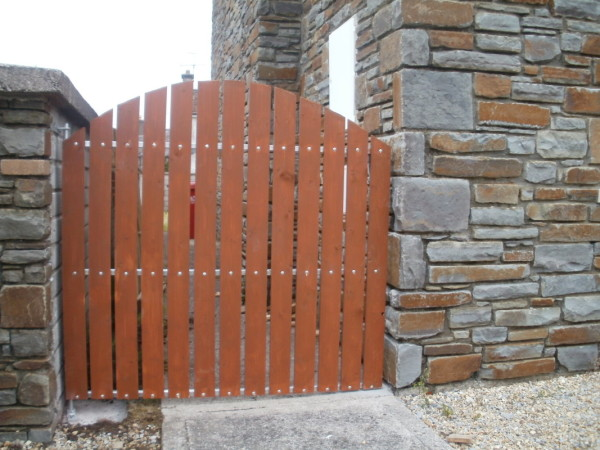 Timber Wicket Gate with Galvanised Steel Frame