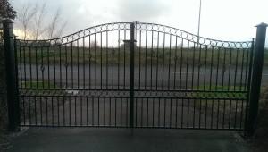 wrought iron driveway gates, wrought iron entrance gates, wrought iron gates cork, steel gates cork,