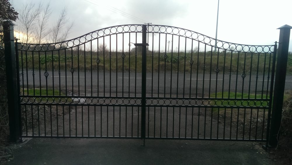 wrought iron driveway gates, wrought iron entrance gates, wrought iron gates cork, steel gates cork,