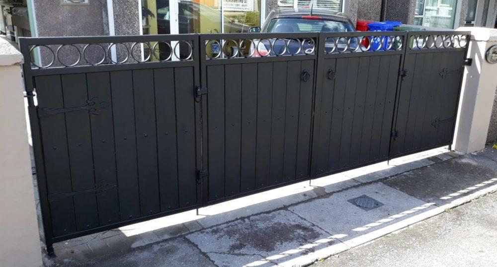pvc board entrance gates, composite board entrance gates, folding pvc entrance gates, folding composite board entrance gates