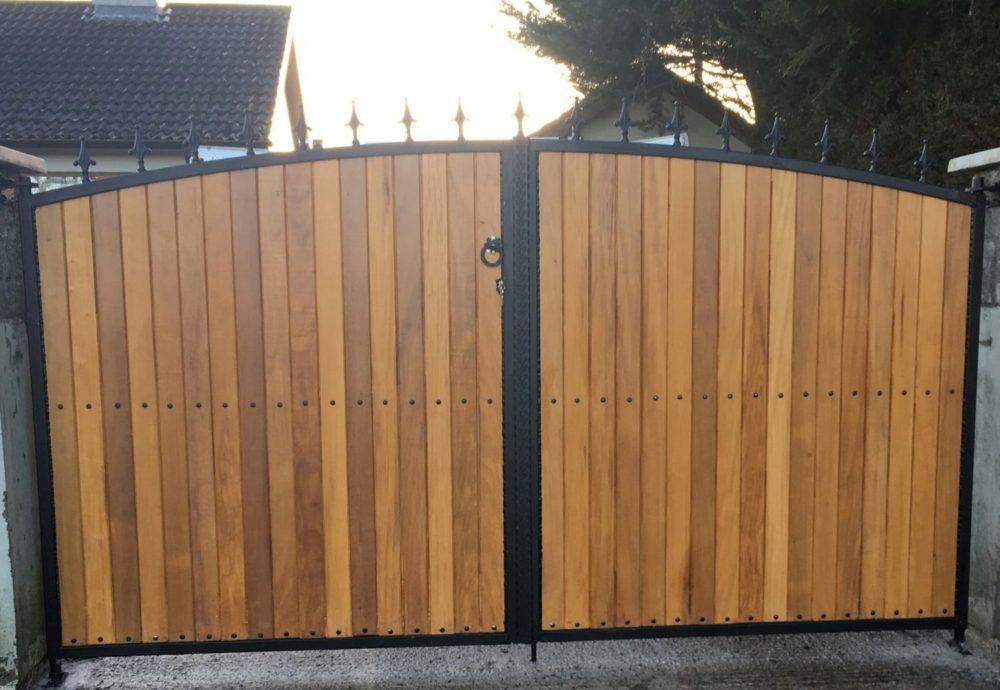 Teakwood Entrance Gates, Teak Driveway Gates Cork, Teak Gates Cork,