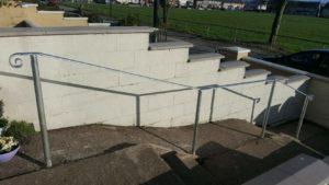 GALVANISED HANDRAIL, wrought iron handrail, handrail,