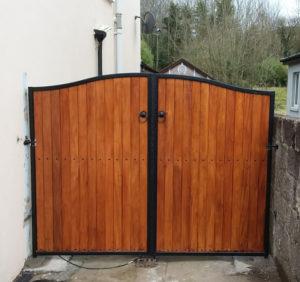teak gates, double teak side entrance gates, gates, teak entrance gates, teak side gates