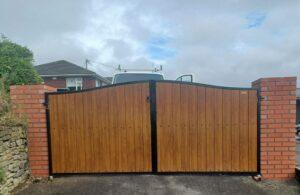 composite board entrance gates